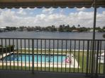 #17 view of Intracostal and Pool area from our balcony