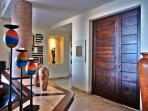 Entrance foyer with beautiful artwork