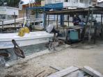 Lagoon side, local fishermen