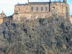 View of Edinburgh Castle from the kitchen