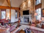 Residence on Shores Lane Great Room Breckenridge Luxury Lodging
