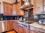 Residence on Shores Lane Kitchen Breckenridge Luxury Lodging