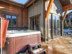 Residence on Shores Lane Hot Tub Patio Breckenridge Luxury Lodgi