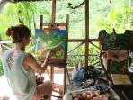 ''Paint with the artist '' A half day private painting course at Indigo