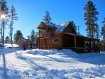 Pristine snow while you are warm, cozy & snug in your cabin.