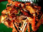 Deep fried crab with chillies!