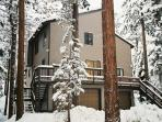 Tahoma Exterior in a snow storm!