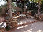 Shade & outdoor seating under the sun