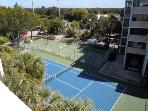 tennis court/game area