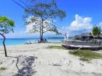 Beach next to villa Kokita