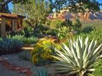 The 2 1/2 acres are extensively landscaped, primarily with native plants...
