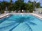 Heated Pool/umbrella tables, chaise lounges, free wifi