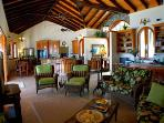 In the Caribbean tradition, the great room is the house center.