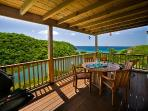 The covered decks are the perfect retreat from the sun, a priceless peaceful location.