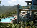 Multi-levels of semi-private covered decks, where guests can find quiet peace on vacation