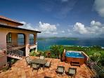 450 feet above Coral Bay just off the east mountain range of the Virgin Islands National Park.