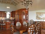 The Tommy Bahama sunset dining suite completes the Caribbean elegance of Villa Ventosa.
