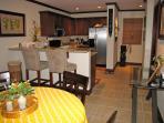 Open concept kitchen & living area