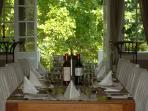 Dining table with views to gardens