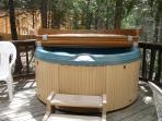hot tub, facing east