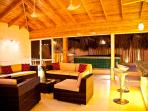 Family Room with Bar and Jacuzzy at Night
