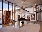 Baby grand Steinway piano