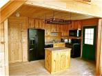 Mountain View Cabin Kitchen with all of the modern conveniences.