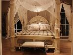 Luxurious and romantic -- Master suite (Draping no longer in use)