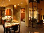 Dining Room and Kitchen at Night