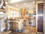 Gorgeous kitchen with high end appliances and grantite