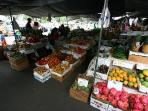 Shop at the Farmer's Market on Hualalai Rd & Alii Dr