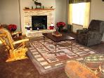 The family room decorated in honor of the Chocolate Moose