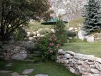 chalet du saut tignes valdisere garden in summer