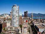 Welcome to beautiful Vancouver, B.C Our unit has views! Ocean city views and Canada Place. Mountains