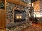 Gas Fireplace, cozy warmth