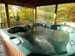 Mmmmm. Hot tub! Perfect in every season!