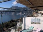 Casa Maria Cristina - terrace with seaview towards Capri