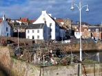 One of the beautifull fishing village on the East Neuk of Fife. 17 Miles from Bag End