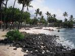 White Sand Beach next to Kona Reef