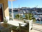 Balcony overlooking the Marina & Yacht Basin