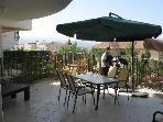 barbecue area on patio