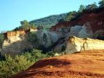 Ocre cliffs in Colorado Provencal