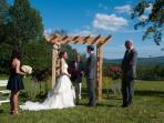 Our daughter's wedding in the yard, August 2013