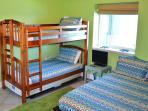 Bunk room = queen plus twin/twin bunk - private bathroom