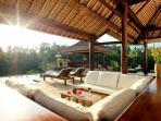 Recessed Sitting Area in Pavilion with Fantastic Panaramic View of River Valley
