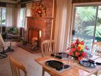 Hale Aloha Dining Room & Fireplace