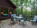 Enjoy outdoor dining with complete peace and quiet.