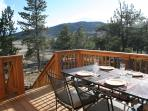 Lots of deck area to take in the beautiful mountain views