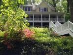 Sligo Creek Manor is set in a wooded area on almost an acre next to a creek.