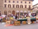 Antiques market on Friday afternoons in nearby Sansepoclcro